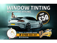 WINDOW TINTING \\ FROM £50 \\ EAST LONDON