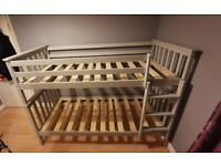 Brand new single wooden bunk bed with mattress available with cash on delivery !!!