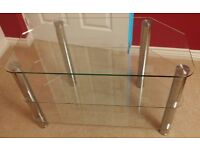 Clear Glass TV Stand (used)