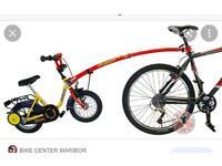 Trail Gator Bike tow bar trailer tag pull along