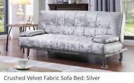 Crushed velvet sofa bed