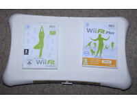 Wii Fit Board, Wii Fit & Wii Fit Plus games all in excellent condition
