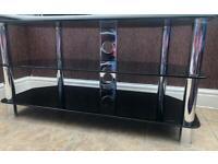 Glass chrome TV stand
