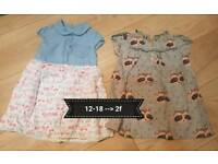 Baby girl clothes 12-18 months.