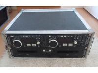Denon DN-D4000 PRO Twin CD players - DJ Disco MP3 Compatible Pitch Control + Flightcase Mobile