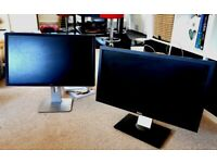 2 x Dell computer tv monitor screen ideal for pc or gaming. Good condition