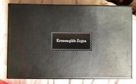 Ermenegildo Zegna black leather passport holder