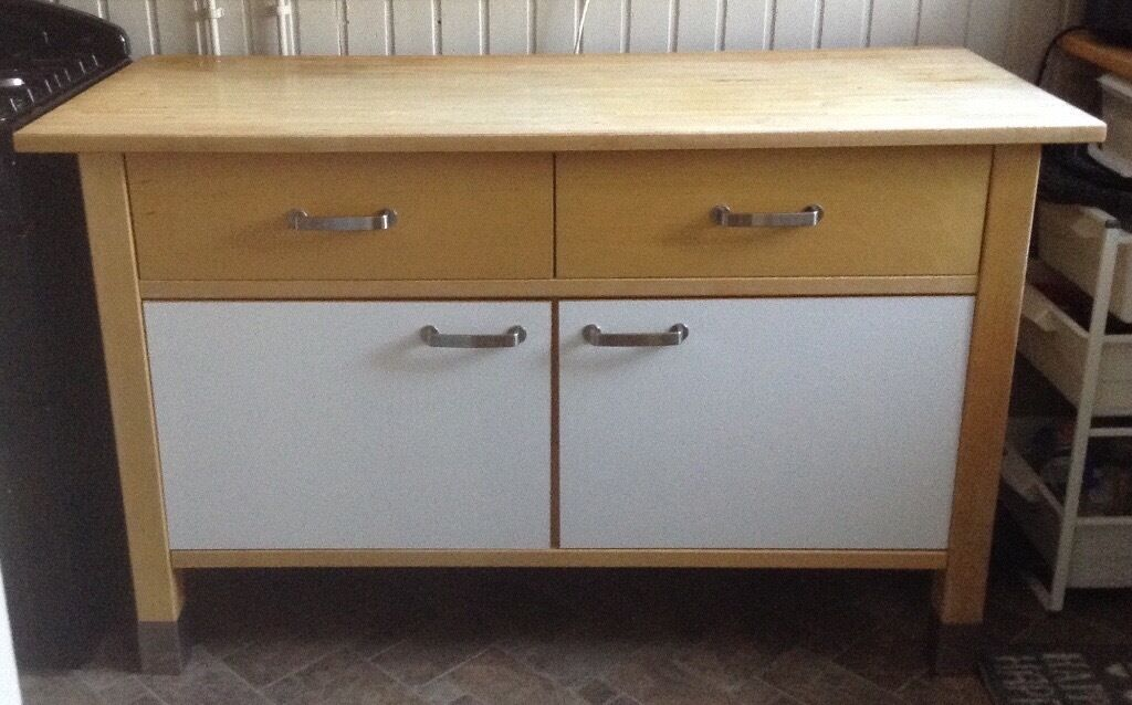 IKEA Varde Kitchen Unit, Solid Wood, Free Standing
