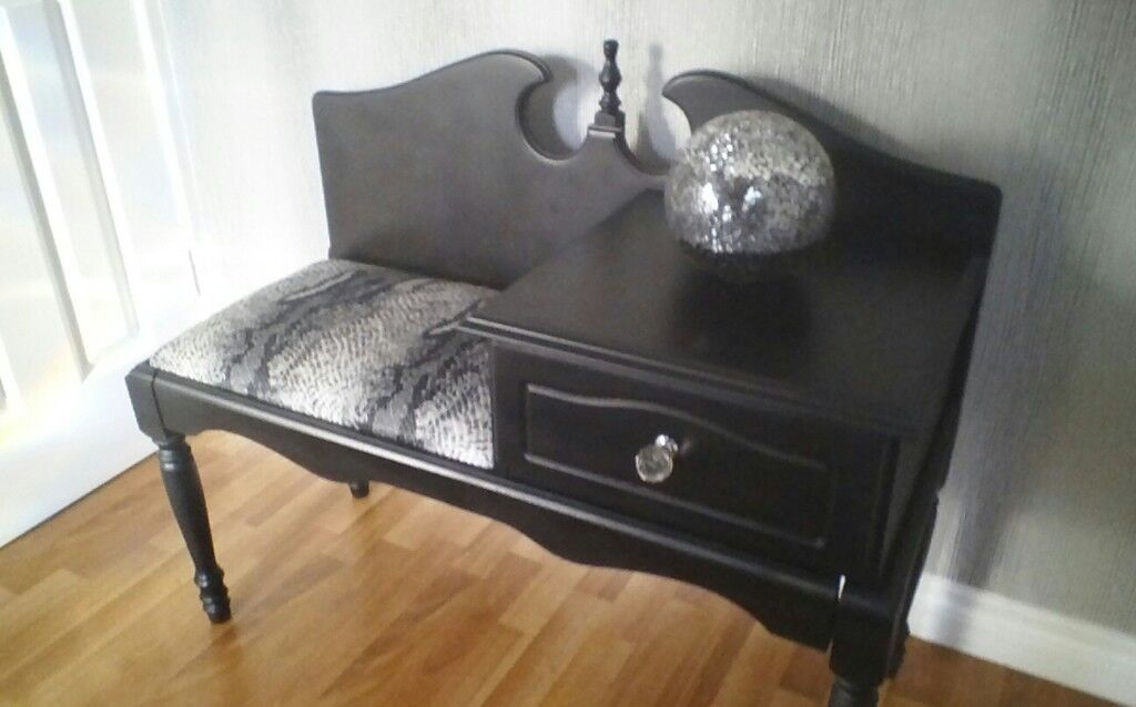 Black Phone Table GREAT CONDITION £35