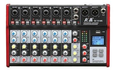 RETURNED: ICM SE-8-ME Professional Audio Mixer with Bluetooth and USB Recorder