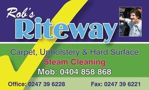 BUSINESS FOR SALE: RITEWAY STEAM CLEANING - Carpet & Upholstery Blue Mountains Preview