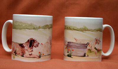 ITALIAN SPINONE DOG Mug watercolour painting Sandra Coen Off to the Dog Show