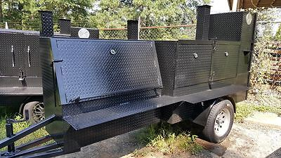Night Hog Glow Gauge Street Vendor Mobile Bbq Smoker 36 Grill Trailer Food Truck