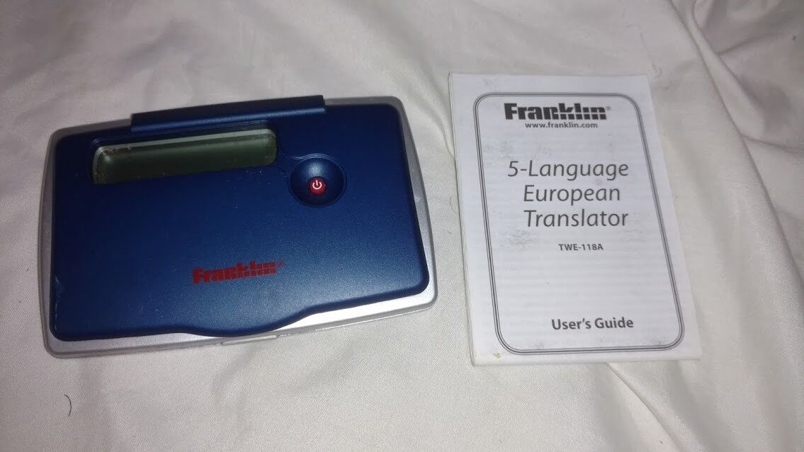 Frankin 5 Language European Translator TWE 118-A with user guide