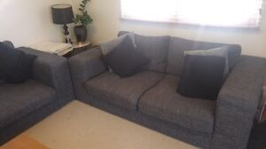Designer lounges 2.5 +3 seater. Grey. Bardwell Valley Rockdale Area Preview