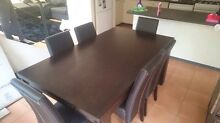 Dinning table with 6 leather chairs Highgate Perth City Preview