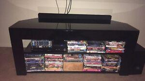 Black glass top TV cabinet Diamond Creek Nillumbik Area Preview