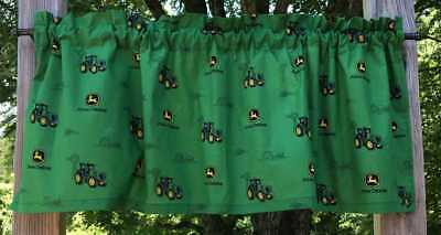 Handcrafted Cotton Curtain Valance Sewn From John Deere Tractor Fabric t4/19 John Deere Curtain