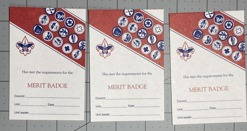 BSA Boy Scouts Merit Badge Pocket Card Blank Unused No 3414 1998 No 33414 C1