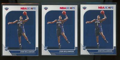 2019 Panini Hoops #258 Zion Williamson RC Rookie Lot Of 3