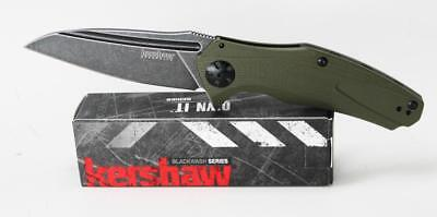 Kershaw Natrix Knife Green G10 Handle Blackwash Assisted Opening  7007OLBW - Green G10 Handle