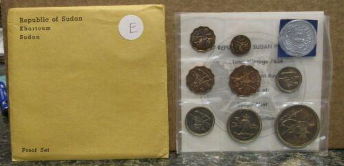 1967 Sudan Proof 8 Coin Set Khartoum Mint In OGP