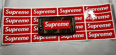 NEW SUPREME Stickers 16 Piece Red Box Logo Vinyl small phone car USA SELLER