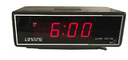 Vintage SS-3 Lumitime Red LCD Alarm Clock Tamara Electric Works