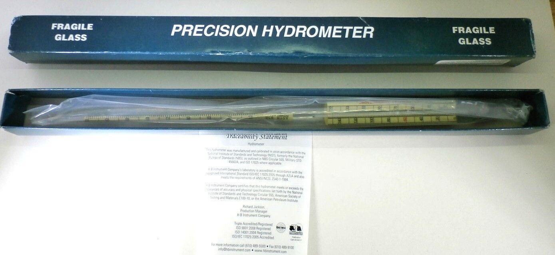 Details about Thomas API Hydrometer, 43 to 51 Degree API Range
