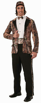 Duck Hunter Costume Halloween (Hunting for Love Mens Duck Hunter Camo Camoflauge Groom Wedding Tuxedo)