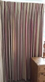 Triple Pleat Laura Ashley Curtains for a 6ft track