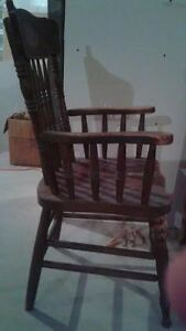 Two solid oak pressed-back Chairs for $10 each London Ontario image 4