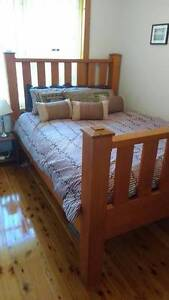 Custom Hand made timber frame bed queen size Engadine Sutherland Area Preview