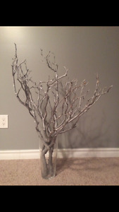 Custom made 'frozen branch' center piece