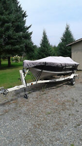 14 FT LEGEND BOAT MOTOR TRAILER IN EXCELLENT CONDITION!!!!