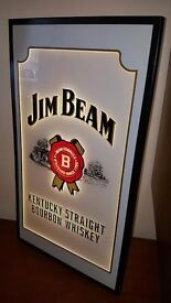 1990s Jim Beam Pub/Bar Illuminated Advertising Sign. Advert/Breweriana