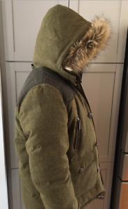 RW & CO. DOWN-FILLED, WOOL BLEND COAT IN EXCELLENT CONDITION!!