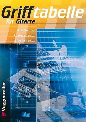 Grifftabelle für Gitarre mit über 4000 Akkorden