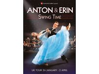 2 Tickets for Anton and Erin Swing Time 2017 at Concert Hall Glasgow