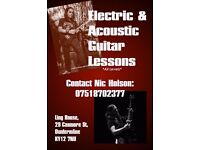 Electric and Acoustic Guitar Lessons in Kirkcaldy and Surrounding Areas