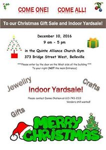 Christmas Craft Show & sale and Indoor yardsale