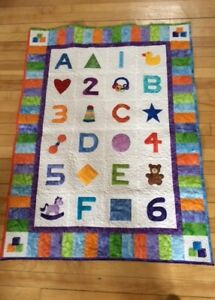 """""""Bright Beginnings"""" Baby/Toddler Quilted Wall Hanging"""