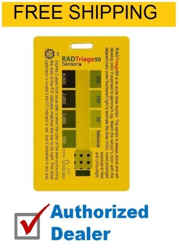RADTriage 50 Personal Radiation Detector for wallet or pocket , FREE SHIPPING