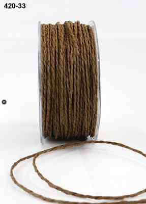Paper Cord Ribbon -  May Arts - 420-33 - Lt. Brown - 5 yds.