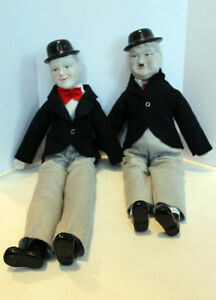 Vintage Laurel and Hardy Dolls, Porcelain 20
