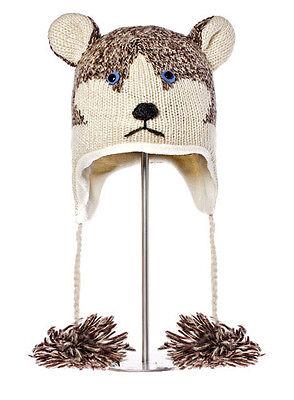 Husky Costumes For Dogs (SIBERIAN HUSKY HAT huskies SKI CAP animal sled dog costume ADULT knit LND)