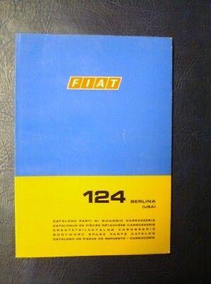 FIAT 124 BERLINA USA BODYWORK SPARES CATALOGUE 1st EDITION  ref: 603.10.193 1969