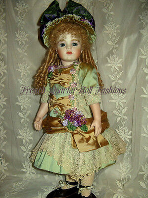 "24""  FRENCH DOLL DRESS PATTERN VICTORIAN STYLE ~ AURELIA"