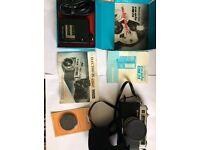 Vintage Yashica Electro 35 GSN 45mm and VTG Boxed EVA BLITZ DM-24 Electronic Flash