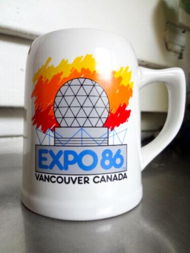 Large 20 Oz Vintage EXPO 86 Vancouver, Canada Coffee Mug / Beer Stein Ceramic
